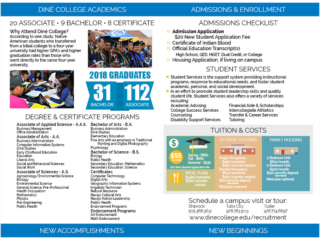 Diné College Recruitment - 2018/19(updated) Quick Facts Inside Fold Brochure
