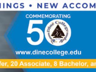 Diné College 50th Anniversary Celebration Billboard - 2018