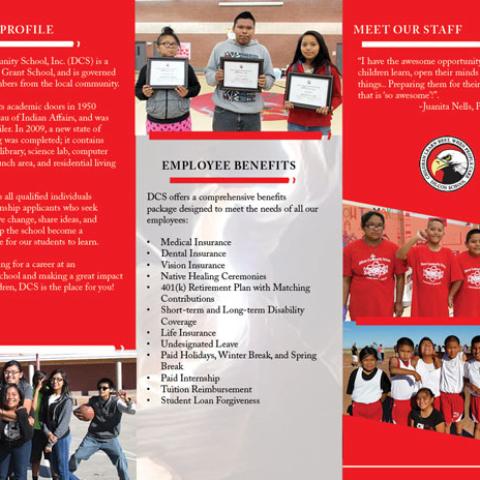 Dilcon Community School Brochure Inside Fold