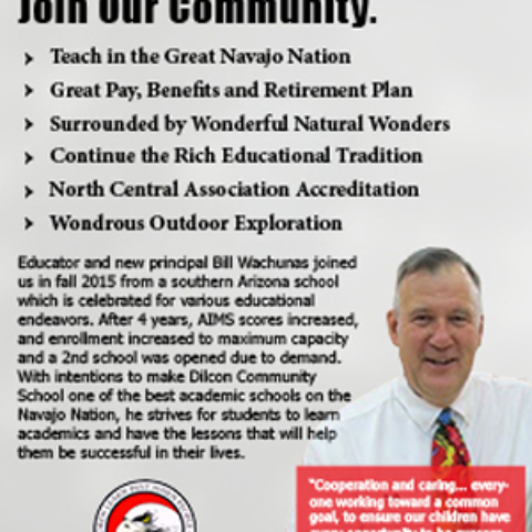 Dilcon Community School Gallup Independent Eighth-Page Advertisement