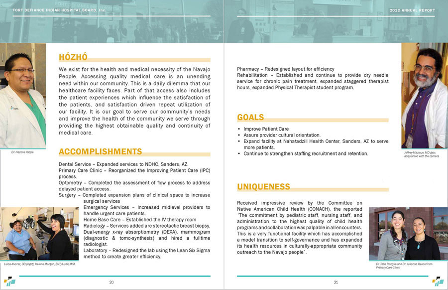 Tséhootsooí Medical Center - Annual Report Dept Spread