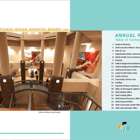 Tséhootsooí Medical Center - Annual Report TOC Spread
