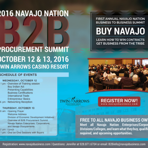 Diné Media Group - Navajo Times Half-page Ad Business 2 Business Summit