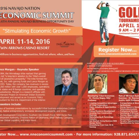 Diné Media Group - Navajo Nation Economic Summit - Navajo Times Half-page Ad
