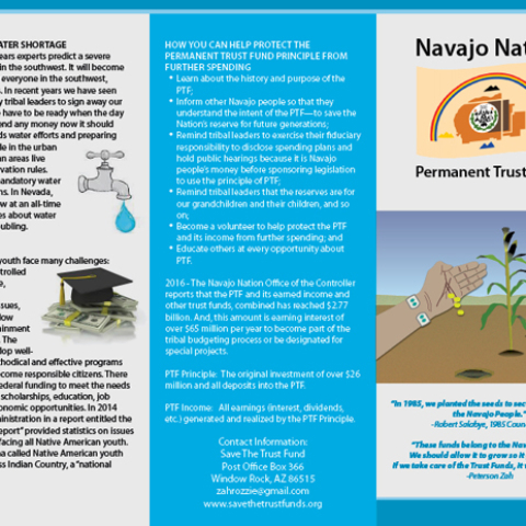 Diné Media Group - Permanent Trust Fund Brochure Outside