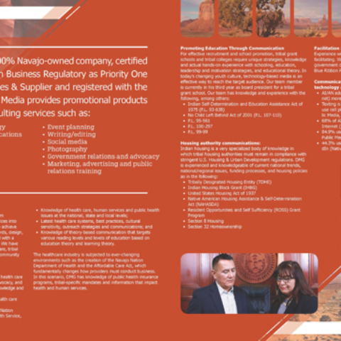 Diné Media Group - Brochure Inside