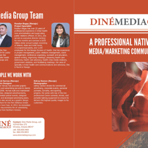 Diné Media Group - Brochure Outside