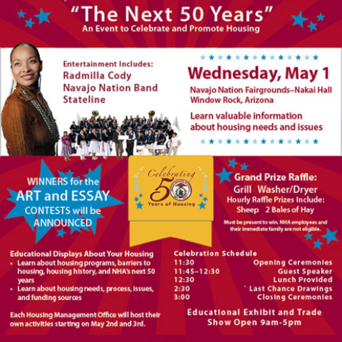 Navajo Housing Authority - 50th Anniversary Celebration Poster