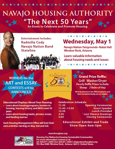 Navajo Housing Authority - 50th Anniversary Celebration Poster