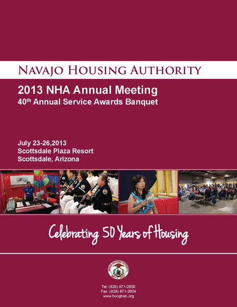Navajo Housing Authority - 2013 Annual Meeting Booklet Cover
