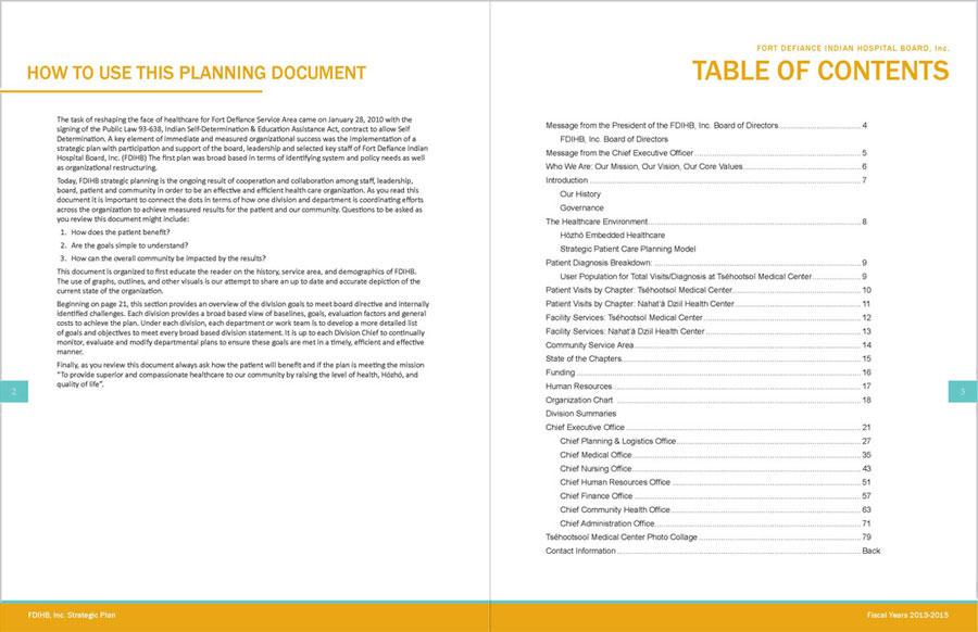 Tséhootsooí Medical Center - Strategic Plan TOC Spread