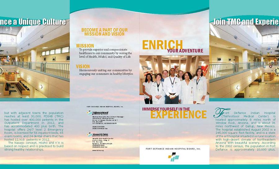 Tséhootsooí Medical Center - Recruitment Brochure Outside