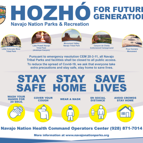 Navajo Nation Parks & Recreation Fall Save Lives - Navajo Times Half-page